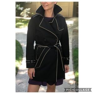 GAP Black Double Breasted Trench Coat